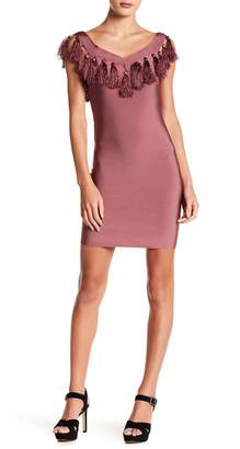 Wow Couture Tassel Trim Bodycon Dress