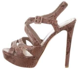 Christian Dior Platform Python Sandals