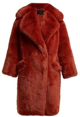 Givenchy Faux Fur Coat - Womens - Burgundy