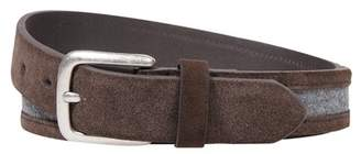 Bespoke Inlay Stripe Suede Belt