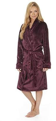 Forever Dreaming Ladies Plain Winter Snuggle Shawl Collar Dressing Gown/Robe. - 4XL