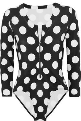 Polka-dot Swimsuit - Black