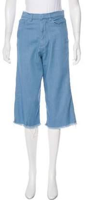 Marques Almeida Marques'Almeida Cropped High-Rise Jeans