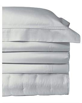 Yves Delorme Triomphe Silver King Bed Flat Sheet 270 x 295