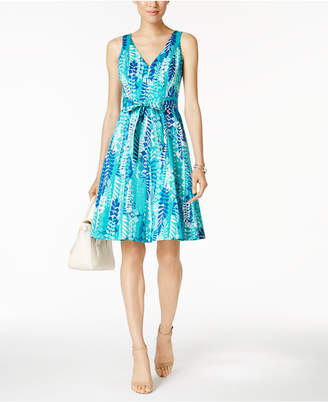 Nine West Printed Belted Sundress $79 thestylecure.com