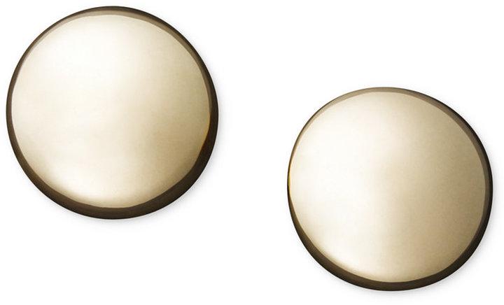 14k Gold Earrings, Flat Ball Stud (5mm)