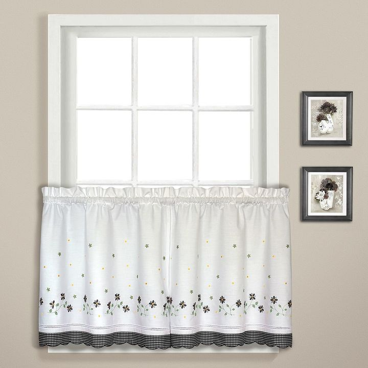 United Curtain Co. Gingham Tier Curtains - 60'' x 24''