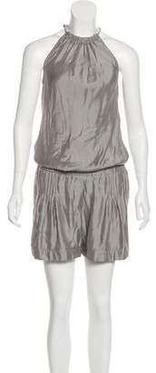 Brunello Cucinelli Sleeveless Silk Romper