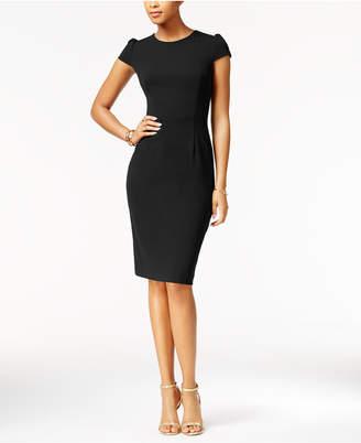 Betsey Johnson Puff-Sleeve Scuba Dress