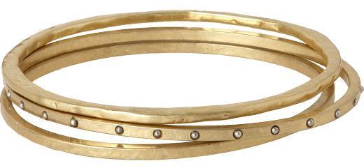 Gold assorted bangles set