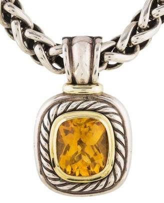 David Yurman Citrine Large Albion Pendant Necklace