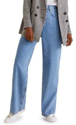 MANGO Romantic Wide-Leg Jeans