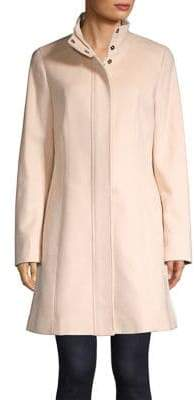 Calvin Klein Stand-Collar Fit-&-Flare Coat