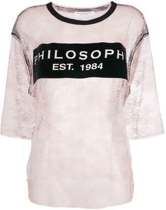 Philosophy di Lorenzo Serafini lace logo T-shirt