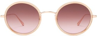 Garrett Leight Playa 48 Round Frame Sunglasses - Womens - Pink