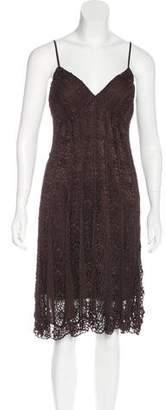 Sue Wong Crochet Knee-Length Dress