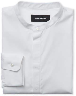 DSQUARED2 Mandarin Collar Dress Shirt