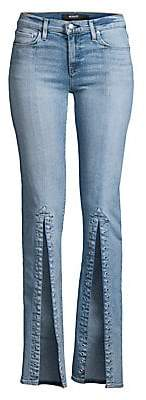 Hudson Jeans Women's Nico High-Rise Front Vent Flare Jeans