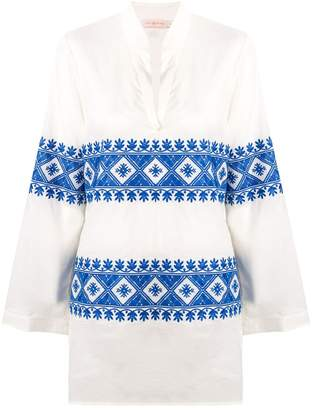 Tory Burch embroidered beach tunic top