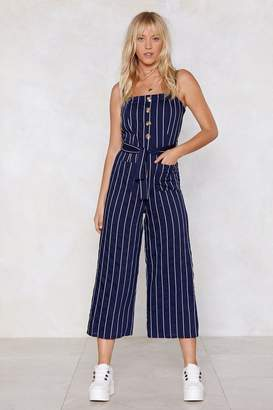 Nasty Gal The Stripe Kind of Wrong Cropped Jumpsuit