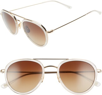 Salt Lynch 52mm Polarized Aviator Sunglasses