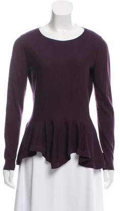Alexander McQueen Crew Neck Flared Hem Sweater
