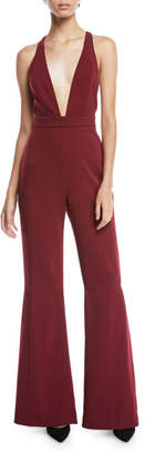 Jay Godfrey Brandon Stretch Crepe Racerback Jumpsuit