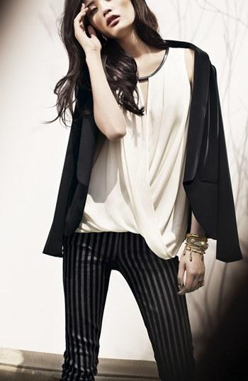 Paige Flocked Skinny Jeans (Flocked Stripe)