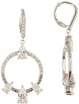 Judith Jack Sterling Silver Swarovski Drop Hoop Earrings
