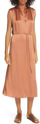 Vince Midi Silk Dress