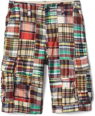 Gap Madras patchwork cargo shorts