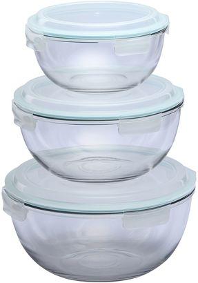 Glasslock 3-Piece Mixing Bowl Set