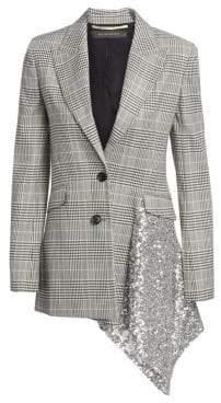 Roland Mouret Marmont Check& Sequin Blazer