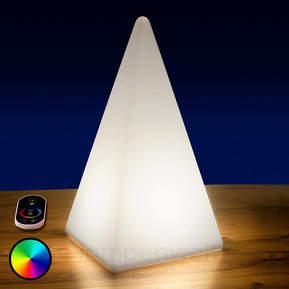 Akkubetriebene RGB-LED-Pyramide f. außen