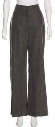 Lela Rose High-Rise Wide-Leg Pants