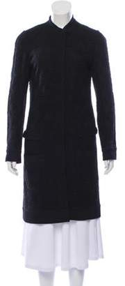 Dolce & Gabbana Knee-Length Guipure Lace Coat Black Knee-Length Guipure Lace Coat