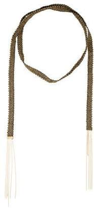 Carolina Bucci 18K Woven Scarf Necklace