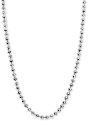 "Alex Woo Beaded 18"" Mini Chain Necklace in Sterling Silver"