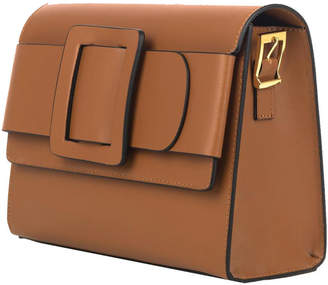 Brix And Bailey Belted Buckle Camel Leather Shoulder Bag