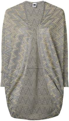 M Missoni embroidered draped cardigan