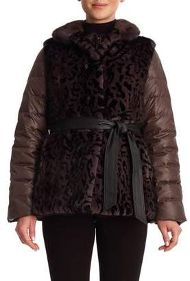 Gorski Reversible Mink Vest and Quilted Down Jacket