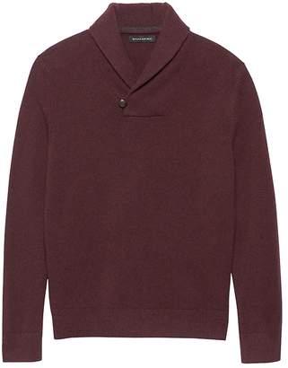 Banana Republic Italian Merino Shawl-Collar Sweater