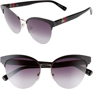 Longchamp Heritage Stripes 55mm Cat Eye Sunglasses