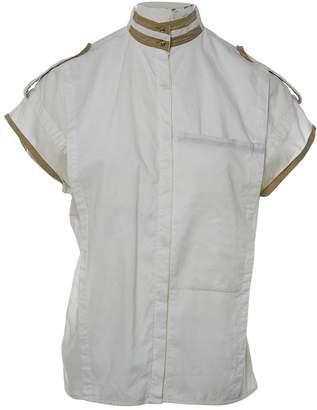 Gianni Versace White Cotton Top for Women Vintage