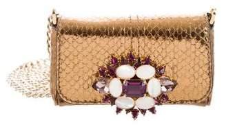 Dolce & Gabbana Python Embellished Bag