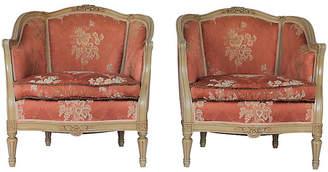 One Kings Lane Vintage Louis XVI-Style Bergères - Set of 2