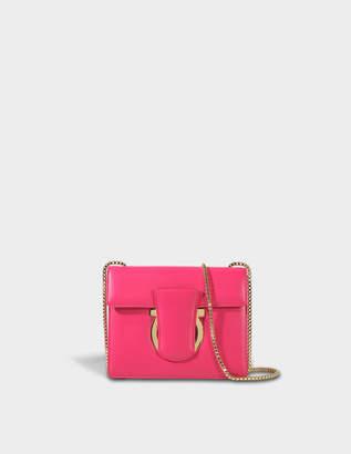 Salvatore Ferragamo Thalia Crossbody Bag in Fuchsia Mufasa Leather