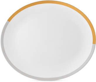 Vera Wang Wedgwood Castillon Gold/Gray Collection Oval Platter