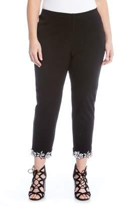 Karen Kane Piper Applique Hem Pants