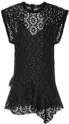Isabel Marant Daisy faux leather minidress